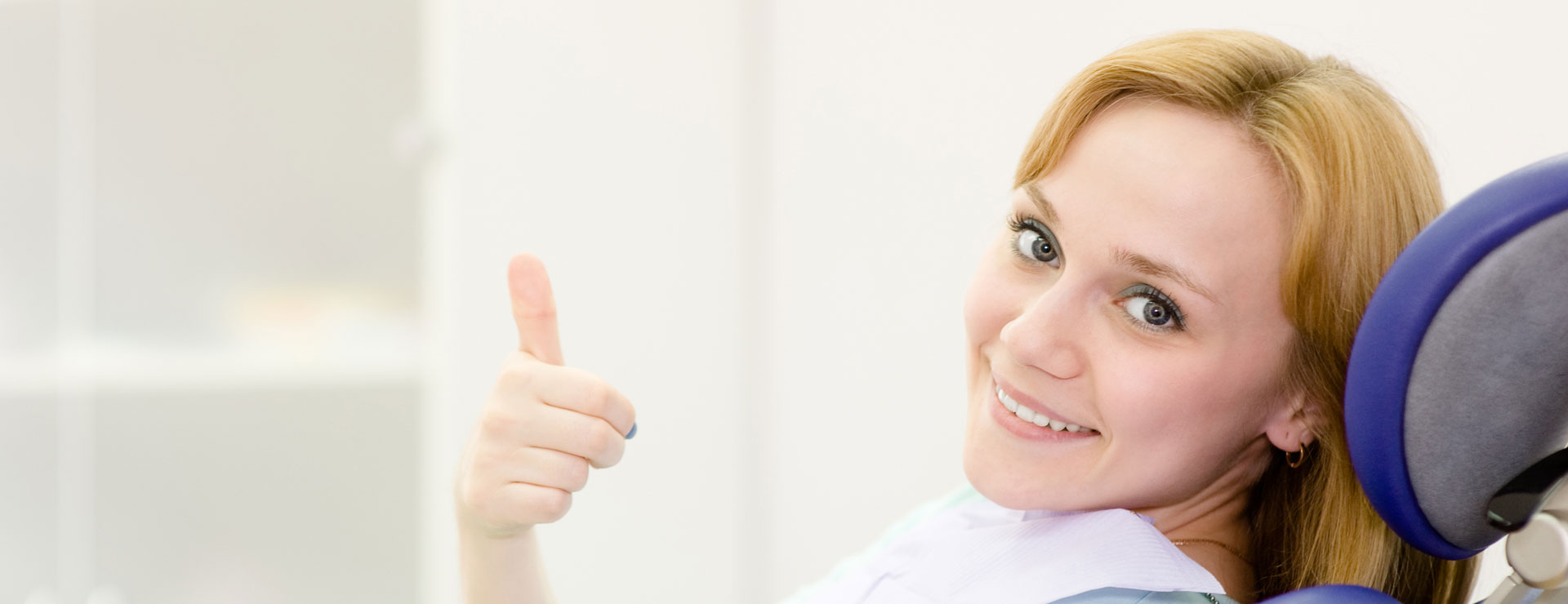 Young woman in the dental clinic